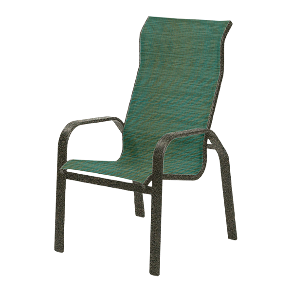 Maya Sling Supreme Dining Chair with Powder-Coated Aluminum Frame - 14 lbs.