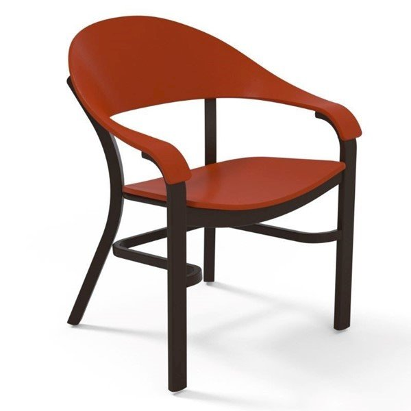 Jetset Dining Chair with MGP Seating Surface and Aluminum Frame - 17 lbs.