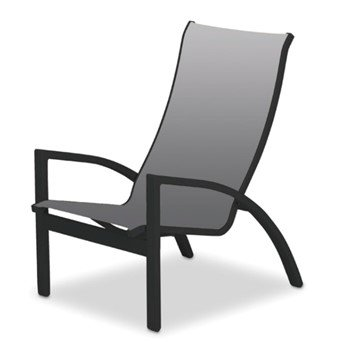 Kendall Sling Chat Height Chair with Stackable Powder-Coated Aluminum Frame - 12 lbs.