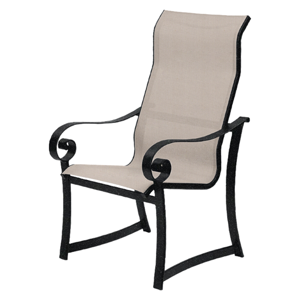 Orleans Sling Supreme Dining Chair with Powder-Coated Aluminum Frame - 18 lbs.