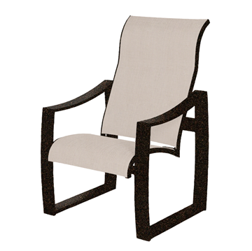 Pinnacle Sling Supreme Dining Chair with Powder-Coated Aluminum Frame - 14 lbs.