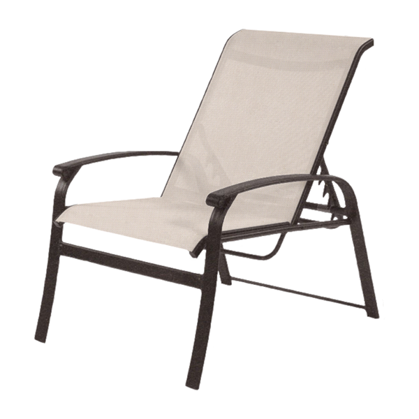 Rosetta Sling Recliner Chair with Powder-Coated Aluminum Frame - 19 lbs.