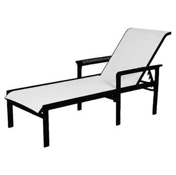 South Beach Sling Chaise Lounge with Powder-Coated Aluminum Frame - 20 lbs.