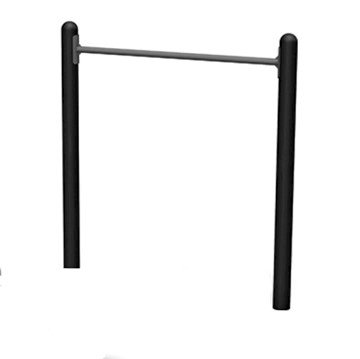 Horizontal Chin-Up Station for Public Areas Powder-Coated Steel Frame - 193 lbs.