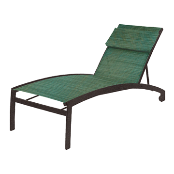 Vision Sling Chaise Lounge with Wheels and Powder-Coated Aluminum Frame - 20 lbs.