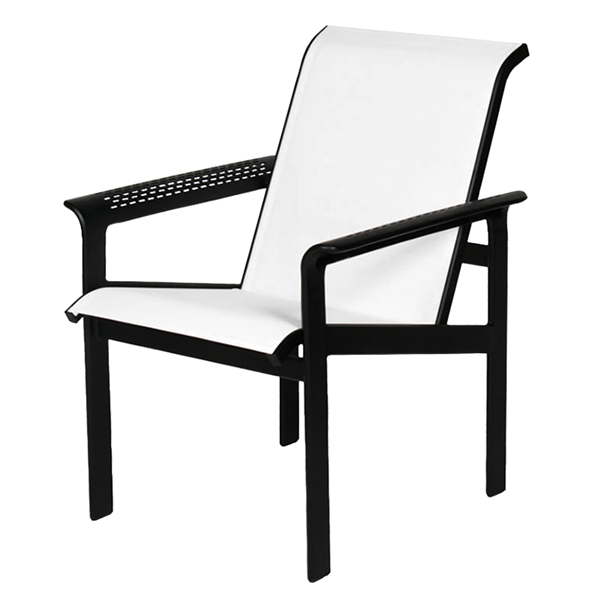 South Beach Sling Hi-Back Dining Chair with Powder-Coated Aluminum Frame - 15 lbs.