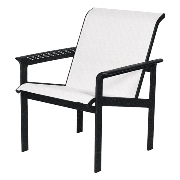 South Beach Sling Leisure Chair with Powder-Coated Aluminum Frame - 20 lbs.