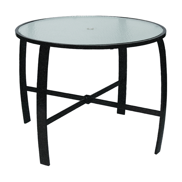 """42"""" Round Pinnacle Gathering Table with Powder-Coated Aluminum Frame- 34"""" or 40"""" Heights"""