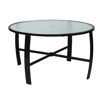 "Pinnacle Dining Table with Powder-Coated Aluminum Frame - 42"" or 48"" Round"