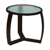 """Pinnacle Side Table with Powder-Coated Aluminum Frame - 20"""" Round"""