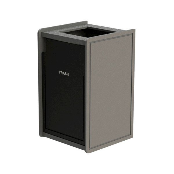 42-Gallon EarthCraft Top-Opening Plastic Waste Receptacle - 92 lbs.