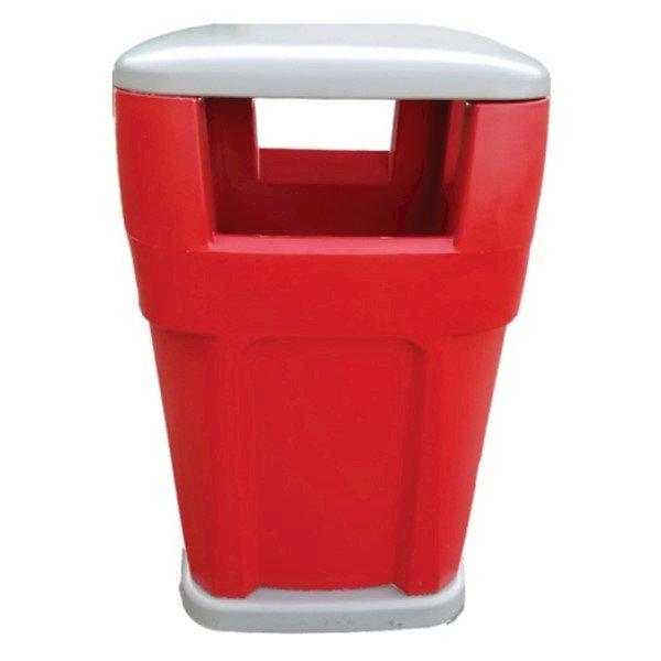 65-Gallon Heavy-Duty Waste Receptacle Polyethylene Plastic - 130 lbs.