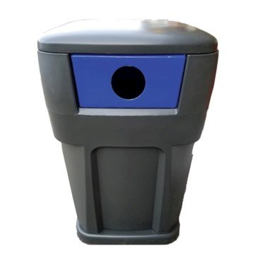 65-Gallon Heavy-Duty Recycling Receptacle Polyethylene Plastic - 130 lbs.