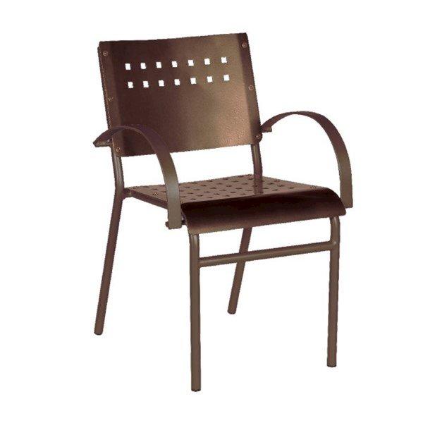 Avalon Outdoor Restaurant Dining Chair Tubular Aluminum Frame - 9 lbs.