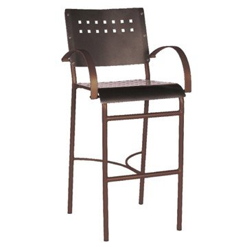 Avalon Outdoor Restaurant Bar Stool Tubular Aluminum Frame - 12 lbs.