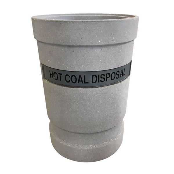 53-Gallon Concrete Hot Coal and Ash Receptacle - 610 lbs.
