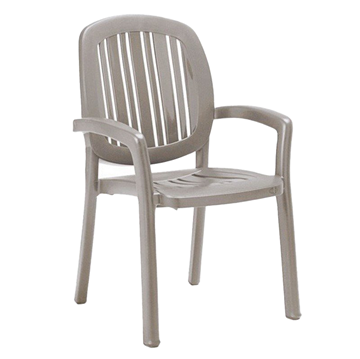 Ponza Plastic Resin Dining Chair - Tortora