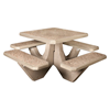 "36"" Square Commercial Concrete Picnic Table - 1100 lbs."