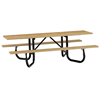 ADA Portable Wooden Picnic Table with Steel Frame