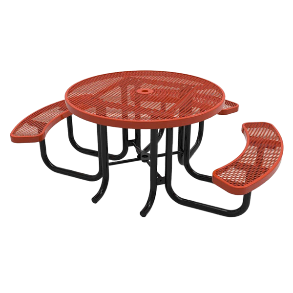 "Elite Series Wheelchair Accessible 46"" Round Thermoplastic Polyolefin Coated Picnic Table"