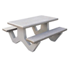 5 Ft. Commercial Rectangular Concrete Picnic Table