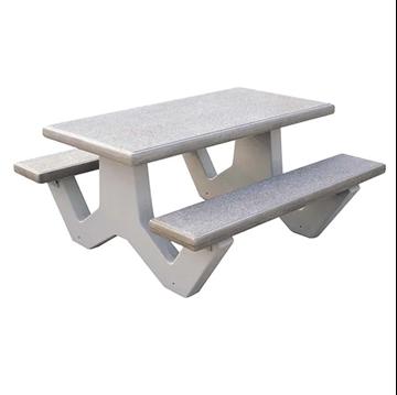5 Ft. Commercial Rectangular Concrete Picnic Table