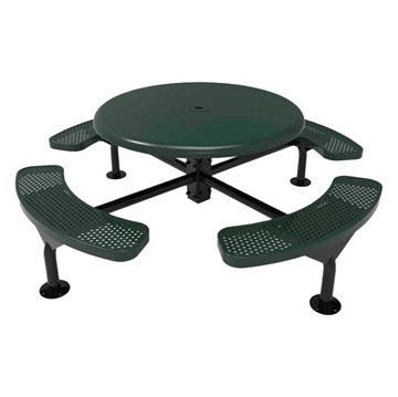 "ELITE Series 46"" Round Solid Top Polyethylene Nexus Table"