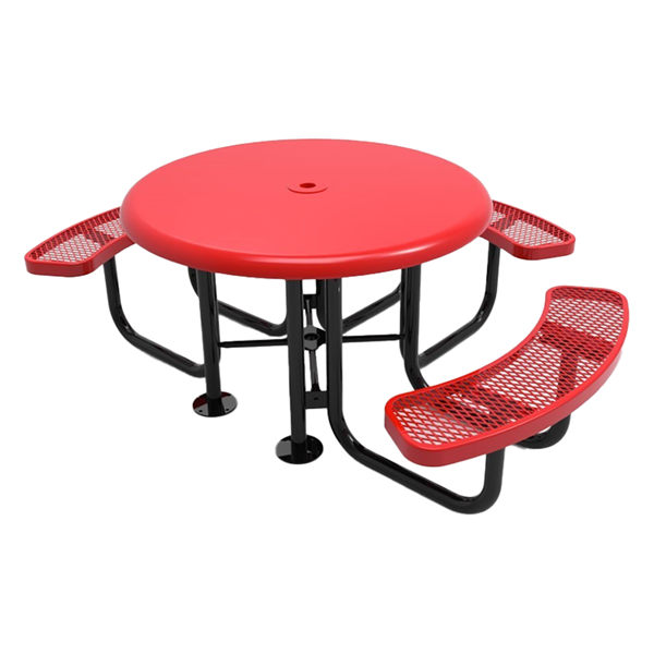 Expanded Metal - Red - Portable - 3 Seat