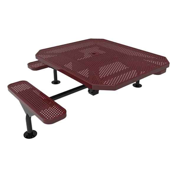 Perforated Steel - Burgundy - Surface Mount