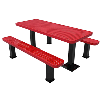 Perforated Steel - Red - Surface Mount
