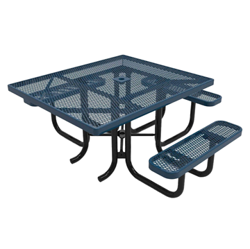 "RHINO ADA Compliant 46"" x 54"" Square Thermoplastic Polyolefin Coated Picnic Table"