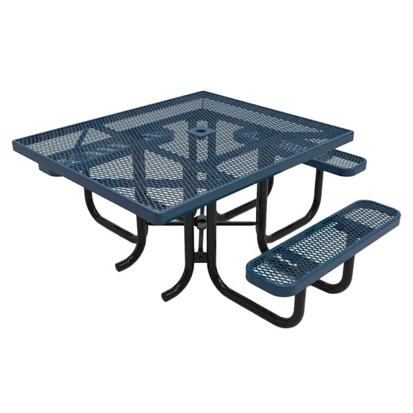 """RHINO ADA Compliant 46"""" x 54"""" Square Thermoplastic Polyolefin Coated Picnic Table"""