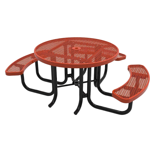 """RHINO Wheelchair Accessible 46"""" Round Thermoplastic Polyolefin Coated Picnic Table"""