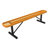 RHINO 8 Ft. Thermoplastic Polyolefin Coated Portable Bench Without Back