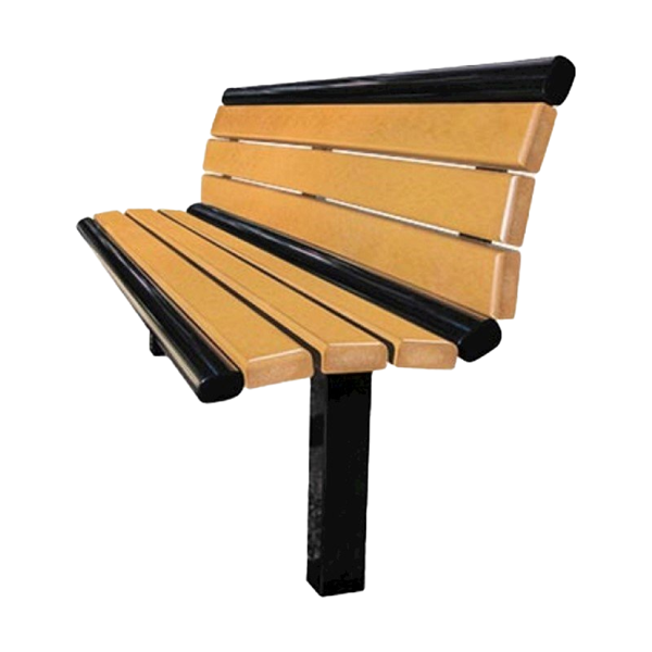 Arches Recycled Plastic Bench with Back - 6 Ft.