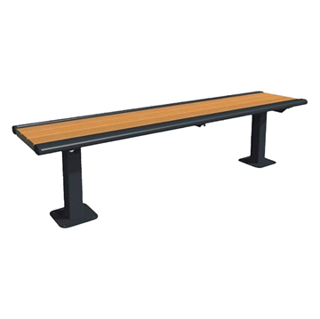 Arches Recycled Plastic Bench with Steel Accents - 6 Ft.