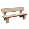 Fairbanks Concrete Bench with Back