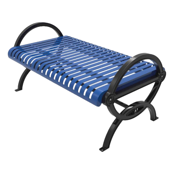 Gateway Steel Bench with Powder Coated Aluminum Frame