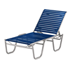 Telescope Reliance Strap Chaise Lounge with Armless Aluminum Frame