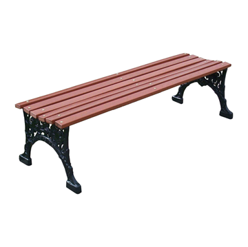 Renaissance Park Backless Bench Recycled Plastic Slats And Cast Aluminum Frame