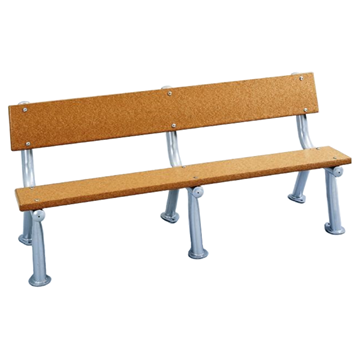 Survivor Recycled Plastic Bench With Armless Metal Frame