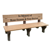Traditional Recycled Plastic Bench with Custom Logo