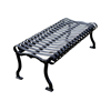 Iron Valley Park Bench - Powder Coated Steel without Back - 4', 5', 6', or 8'