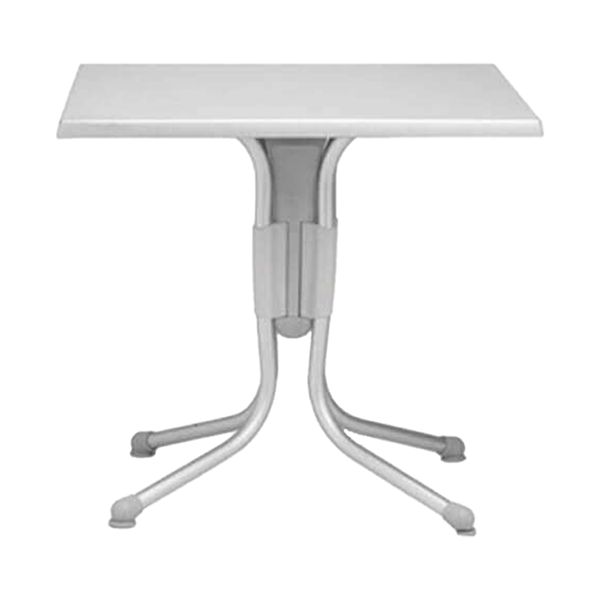 "31"" Square Polo Werzalit Dining Table With Aluminum Frame"