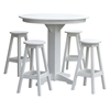 """44"""" Round Recycled Plastic Bar Table Set With 4 Bar Stools"""