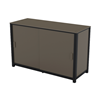 Commercial Marine Grade Polymer Patio Storage Box with Aluminum Frame