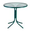 "Telescope 36"" Round Acrylic Table with Aluminum Frame"