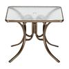 "Telescope 36"" Square Acrylic Table with Aluminum Frame"