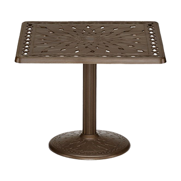 "Telescope 36"" Square Cast Aluminum Dining Table"
