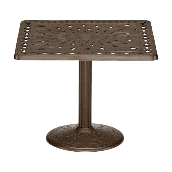 """Telescope 36"""" Square Cast Aluminum Dining Table"""
